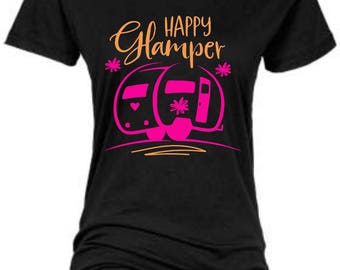 Happy Glamper/Camper/Regular Vinyl Crewneck Shirt