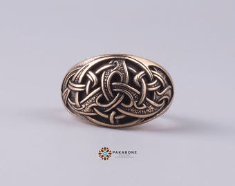 Viking Ring Triquetra Norse Style Viking Jewelry 001-229