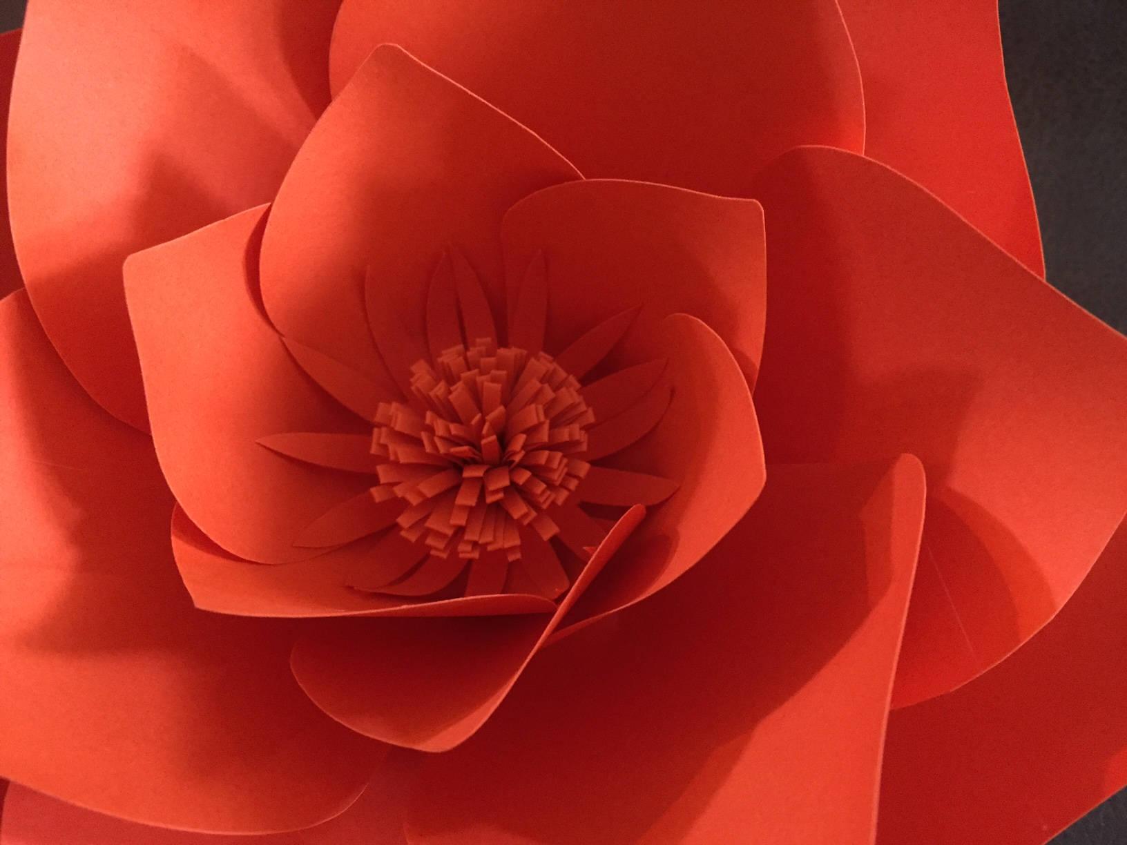 Paper Flower Template Digital Download Pdf Printable Template Diy
