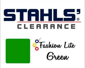 "12"" x 19"" - 15 Craft Sheets - Stahls' Fashion-LITE - Smooth - Iron-on Heat Transfer Vinyl - HTV – Green"