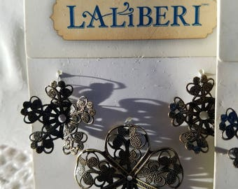 Laliberi Floral Bronzed Metal Jewelry Findings - Assortment of 6