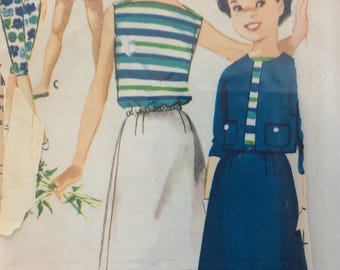 McCall's 5015 girls jacket, shorts, skirt, blouse, baneau & pants size 12 bust 30 vintage 1950's sewing pattern