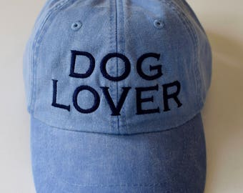 Dog Lover Baseball Cap for Men || Embroidered Dog Dad Hat || Monogram Gift by Three Spoiled Dogs Made in USA