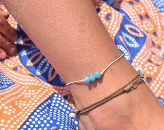 Caribbean Blue Anklet