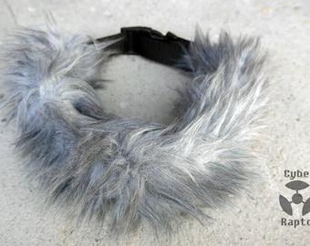 Fluffy Faux Fur Collar - GRAY