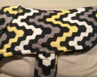 Large Dog Jacket (Yellow, black, & gray design)