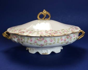 Limoges LRL Lazeyras Rosenfeld Lehman Covered Porcelain Casserole Serving Bowl