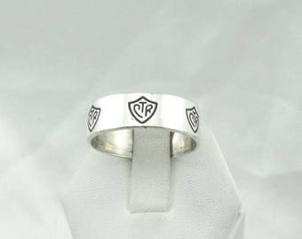 Vintage Wide Sterling Silver CTR Band Size 12 #CTRBAND12-L
