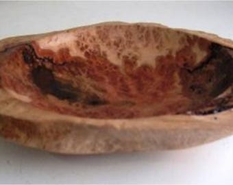 Red mallee burl bowl, small bowl, platter, display piece, centrepiece, mantle display