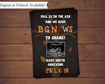 Pregancy Announcement, Fall Pregnancy Announcement