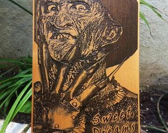Freddy Krueger, Nightmare on Elm Street, Horror Gift for Men, Horror Art, Horror Film, Horror Movies, Horror Movie Poster, Horror Movie Art