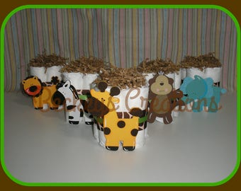 Jungle Diaper Cakes Giraffe Diaper Cakes minis