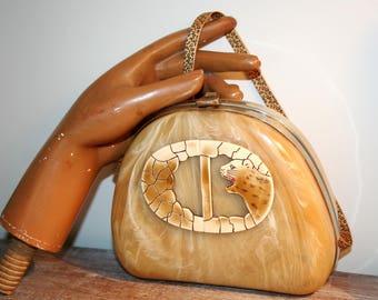 Art deco clutch bag - ART DECO Panther