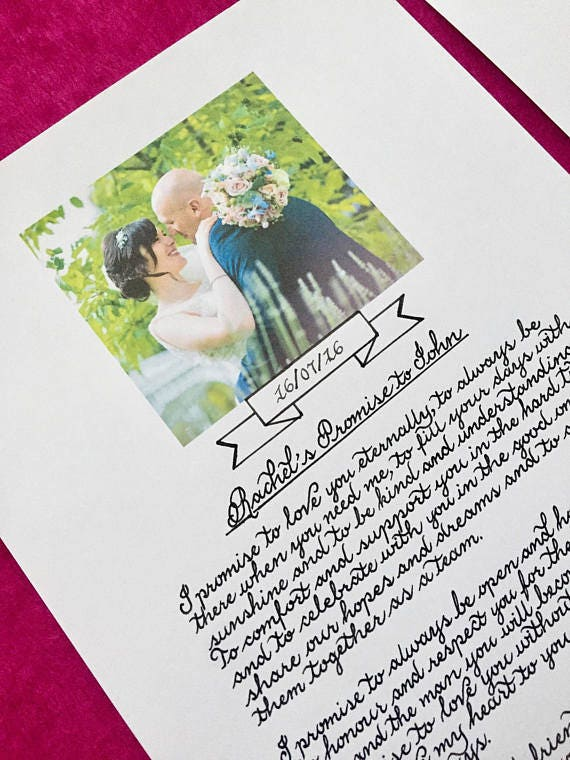 Beautiful handwritten calligraphy for a special recipient