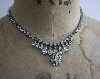 Vintage 1950s Diamante Necklace