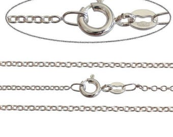 Summer Sale Italian Silver Plated Fine 1.6mm Trace Chain Necklace Various Sizes