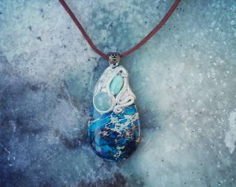 Ocean Blue...Handcrafted Necklace for inner peace