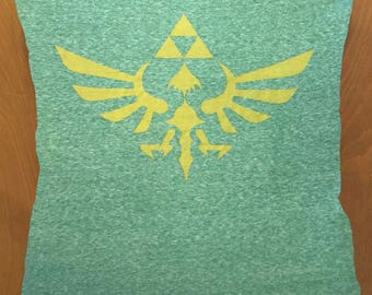 Zelda Winged Triforce throw pillow