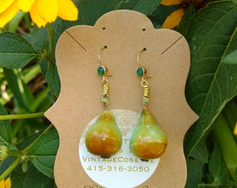 Vintage pear drop earrings
