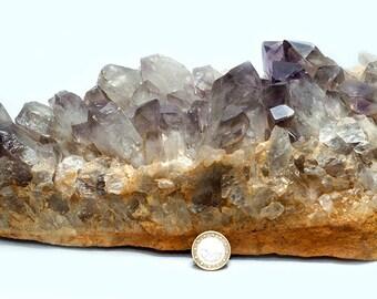 Amethyst Smoke quartz level, 4865 grams
