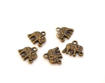 Small 5 elephant charms