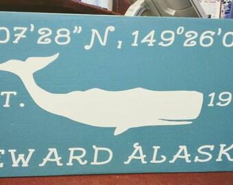 Seward Whale Sign
