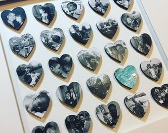 Photos on mdf hearts