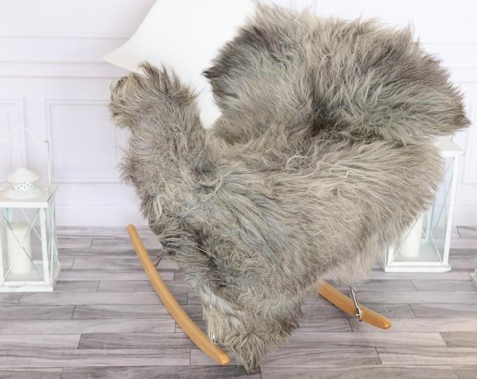 Sheepskin Rug | Real Sheepskin Rug | Shaggy Rug | Chair Cover | Sheepskin Throw | Grey Beige Sheepskin | #HERSEPT27