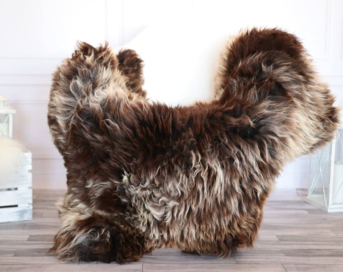 Sheepskin Rug | Real Sheepskin Rug | Shaggy Rug | Scandinavian Rug | Sheepskin Throw Brown Sheepskin | SCANDINAVIAN DECOR | #JANHER39