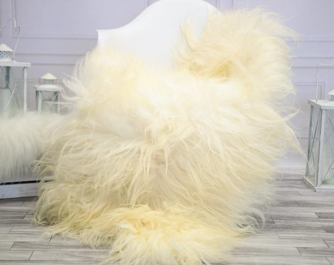 Icelandic Sheepskin   Real Sheepskin Rug   Ivory Sheepskin Rug   Fur Rug    Home decor #JANISL27