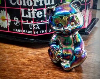 Fenton Carnival Glass Bear