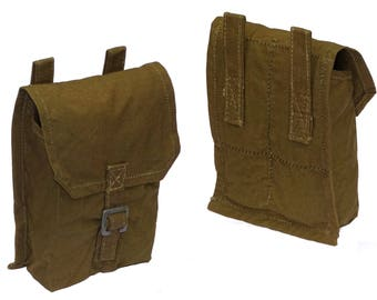 Genuine Army Surplus Grenade Pouch From 1950/60s - To Fit Any Belt - Perfect As Cartridge Bag Substitute