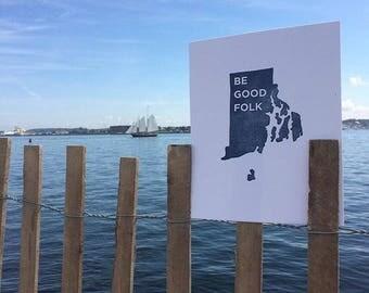 Be Good Folk 8x10 Letterpress Print