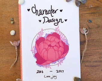 Character design zine 14 pages - art book - self printed