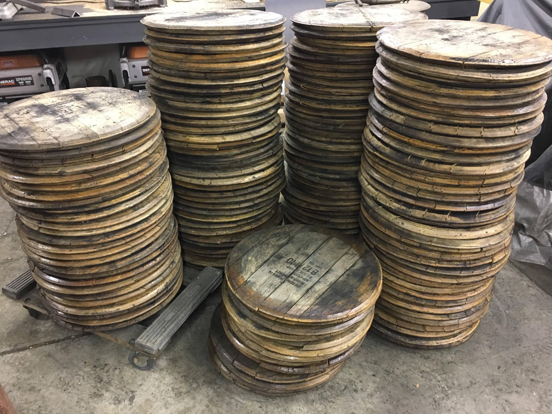 Bourbon Barrel Head Lid Top Barrel Wood Reclaimed Jim