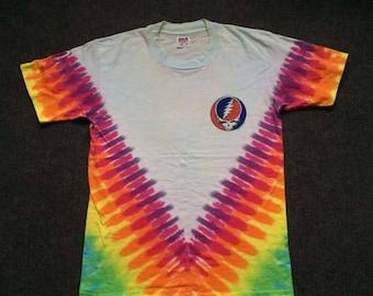 ON SALE 26% Vintage Grateful Dead 90s Tour Promo Original Rare Tie Dye 1965-1995 T Shirt