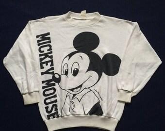 EN venta 26% Vintage Mickey Mouse Guam Usa Disney suéter Hip Hop chaquetas camiseta rara años 80