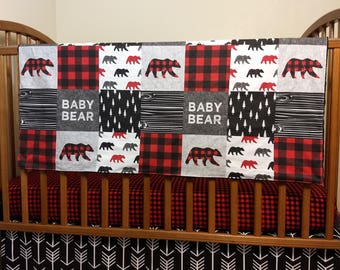 Bear Crib Bedding Etsy