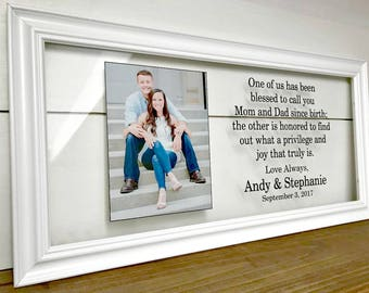Parents Wedding Frame, Mother of the Groom Gift Wedding Gifts for Parents Wedding Mother of the Bride Gift Father of the Bride Gift A165C