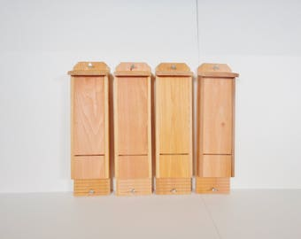 4 Single Chamber Bat Houses