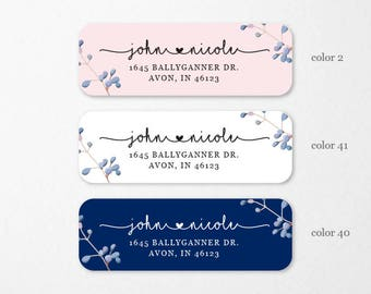 Personalized Return Address Labels, Custom Self-Adhesive Labels, Address Labels, Return Address Labels,Floral Stickers, RAL1
