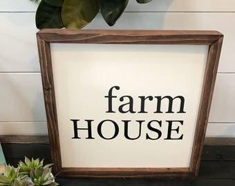 Farmhouse Square Wood Sign