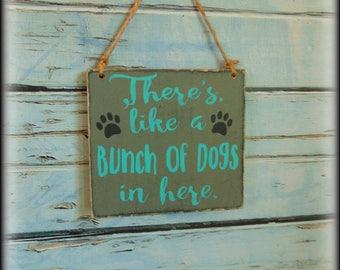 Beware of dog sign - Dog Lover Gift - Funny Dog Sign - Pet Sign - Wood Dog Sign - Handmade Wooden Plaque - Front Door Decor - Custom Sign