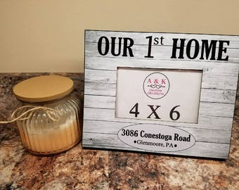 First Home Picture Frame/ Home Sweet Home Frame