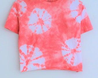 Jessi Pink Tie Dye Crop Top