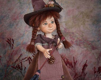 Witch doll decor witch figurine art doll fantasy dolls handmade dolls art dolls handmade doll witch dolls porcelain doll LIMITED EDITION