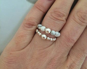 STERLING SILVER STRETCH ring