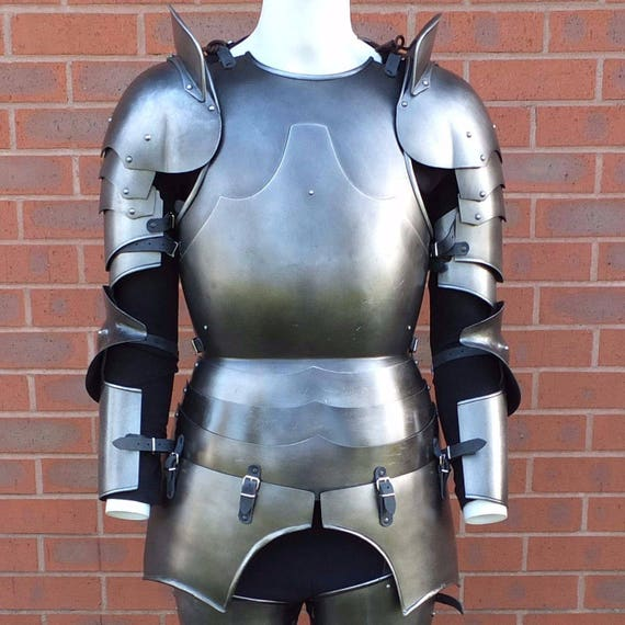Larp Armour Classic Milanese Armour Set, SCA, LRP, Theatrical