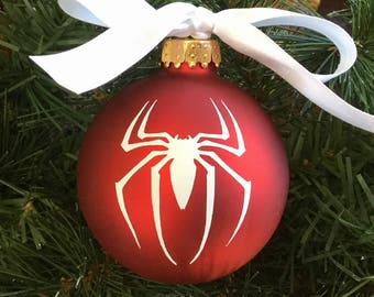 Personalized Spiderman Christmas Ornament