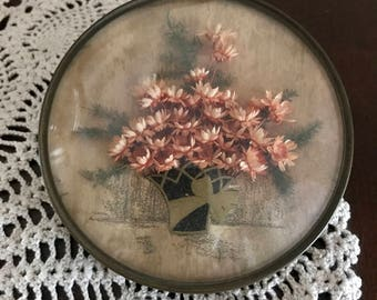 Dried Flowers Wall Plaque